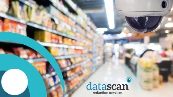 Supermarket CCTV datascan redaction